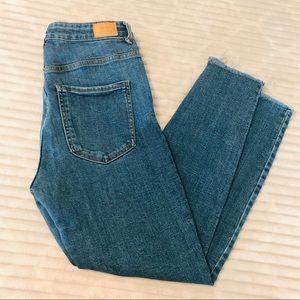 Bershka Denim Super High Rise Cropped Jeans 8 29